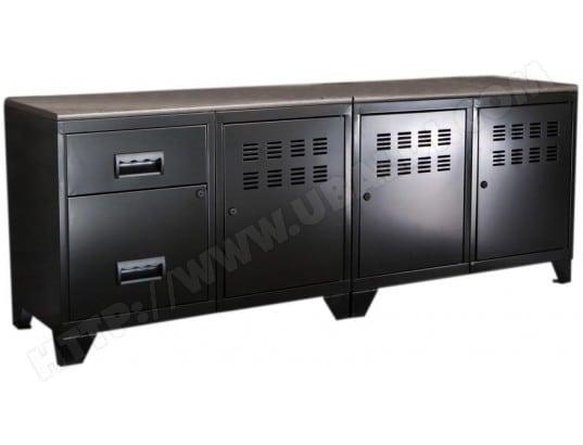 pierre henry meuble tv bois metal industriel 5145