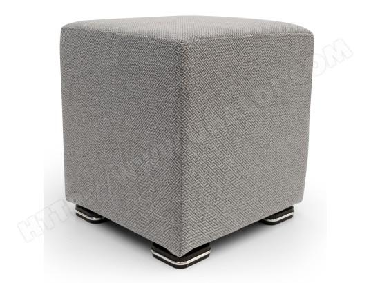 alterego divani pouf square tissu mira gris