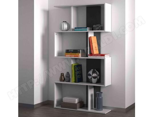 terre de nuit bibliotheque en bois blanc et noir bi6021 w15sym089025165059