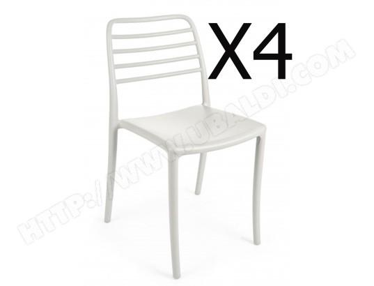 pegane lot de 4 chaises en plastique coloris gris dim l 45 x p 53 5 x h 83 cm pegane ma 82ca493lotd chigv