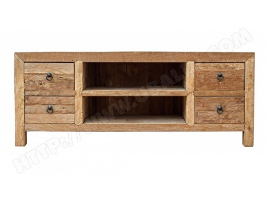 pegane meuble bas en bois avec 2 tiroirs dim l 150 x p 40 x h 60 cm pegane ma 82ca494meub b2s4e