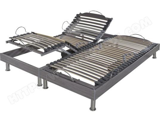 Sommier Electrique 2 X 70 X 190 Ebac S62 Electrique 2x70x190 Cm Gris Pas Cher Ubaldi Com