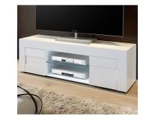 meuble tv blanc laque achat vente