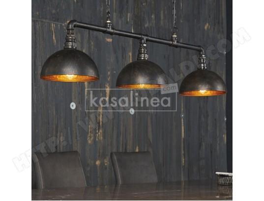 kasalinea luminaire industriel noir et bronze vertigo ma 91ca356lumi l32sh