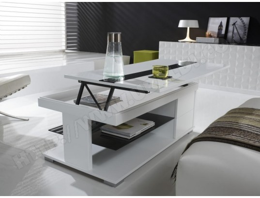 kasalinea table basse relevable blanc laque design manuella ma 91ca182tabl 6q69p