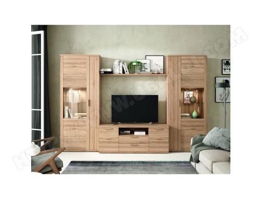 hevea ensemble bibliotheque meuble tv kronos 114 compose de 4 elements ma 22ca487ense 456sp