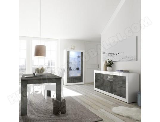 kasalinea salle a manger complete blanche et grise moderne mabel 6 samm120004
