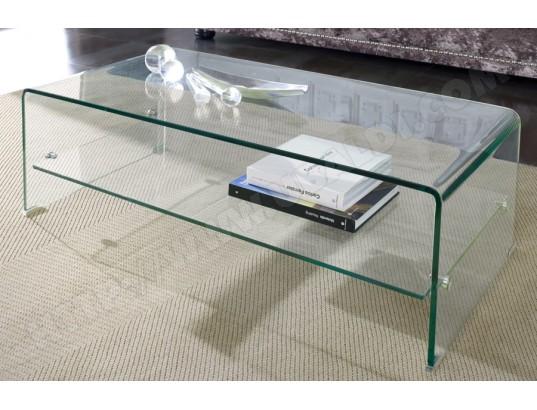 sofamobili table basse en verre trempe clarity tbas d 408