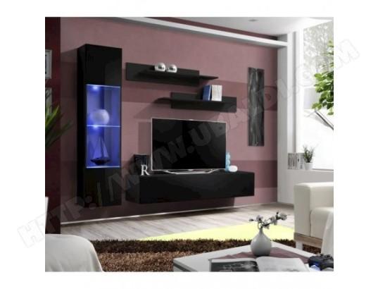 price factory meuble tv fly g3 design coloris noir brillant meuble suspendu moderne et tendance pour votre salon ma 76ca494meub 4wi0a