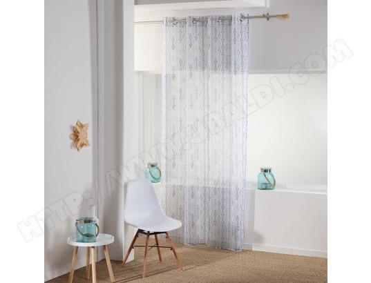 douceur d interieur rideau voilage kessy 140x240cm blanc ma 49ca528cdaf 3q3bw