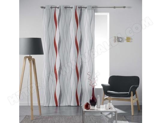 douceur d interieur rideau a oeillets ondulys 140x260cm blanc rouge ma 49ca528cdaf 01ewd