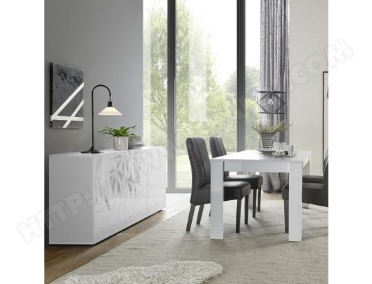 sofamobili salle a manger blanc laque avec bahut 3 portes antonio ma 11ca492sall y8ohj
