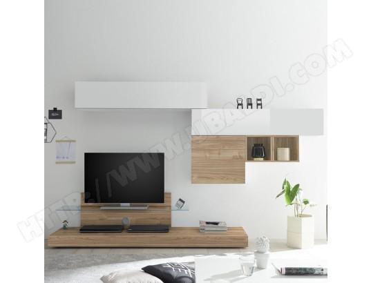nouvomeuble grand meuble tv blanc et chene clair spina ma 82ca487gran i1m9v