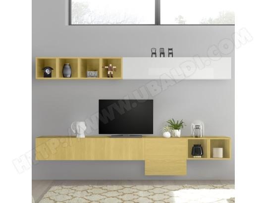 https www ubaldi com salon deco meuble meuble tv nouvomeuble meuble tv design mural jaune et blanc laque manduria nouvomeuble ma 82ca487meub 5rno0 20306391 php