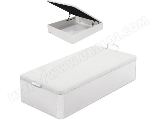 flex sommier 90 x 190 lit coffre flex 90x190cm blanc