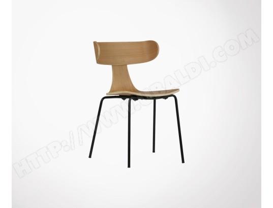 meubles design chaise salle a manger bois metal form chene ma 11ca493chai dk5zw