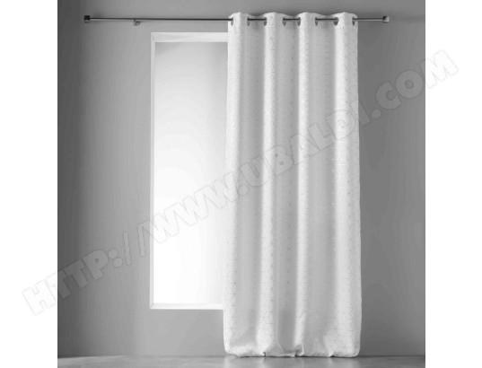 douceur d interieur rideau occultant argent optic blanc 135x240 cm ma 49ca528ride utctw