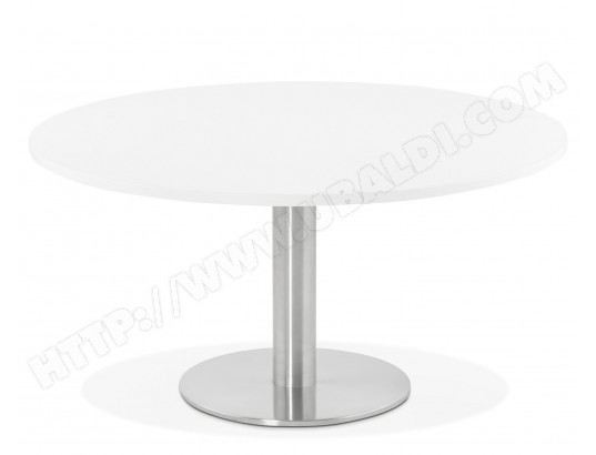 pegane table basse ronde blanche 90 x 90 x 45 cm pegane ma 82ca182tabl uv56n