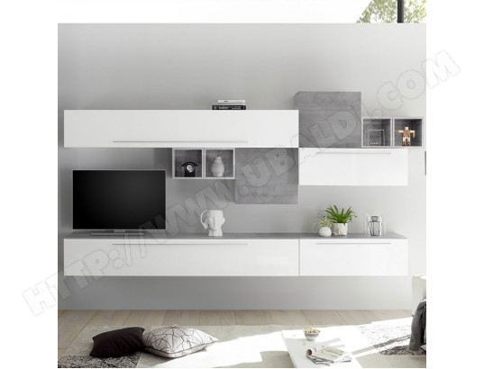 nouvomeuble ensemble meuble tv mural blanc et gris clair vasto ma 82ca487ense ztig2