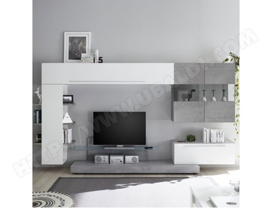 nouvomeuble meuble tv suspendu blanc et gris clair tarenta ma 82ca487meub chhc1