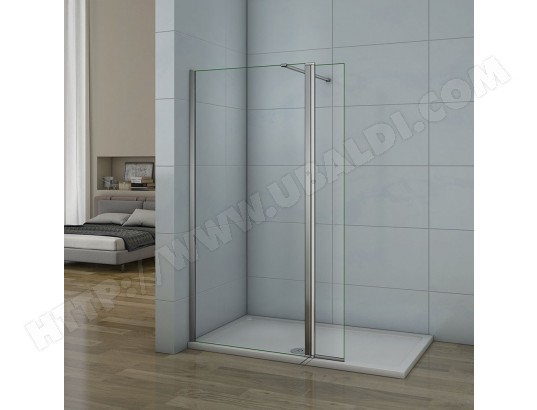 aica sanitaire aica paroi de douche pivotante 90x200cm 30x200cm en 8mm verre anticalcaire paroi laterale a l italienne ma 12ca546aica 2wrst