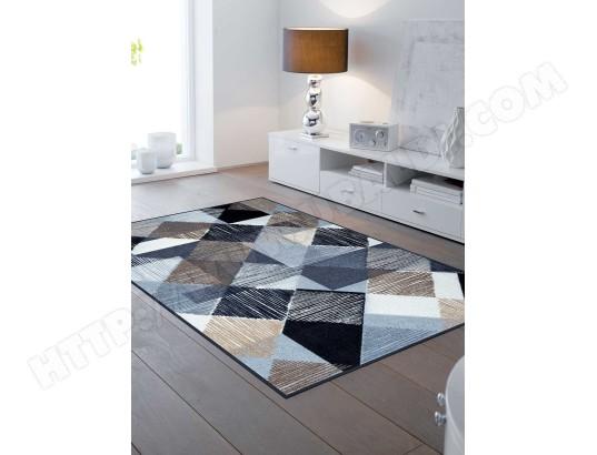 kleen tex tapis pour couloir lines and boxes tx bleu 50 x 75 cm tapis de salon moderne design par kleen tex 44290