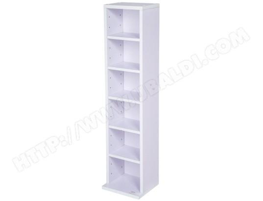helloshop26 armoire etagere rangement cd dvd meuble de rangement pour 100 cds blanc violet 0508023 2 ma 18ca804armo tbjjg