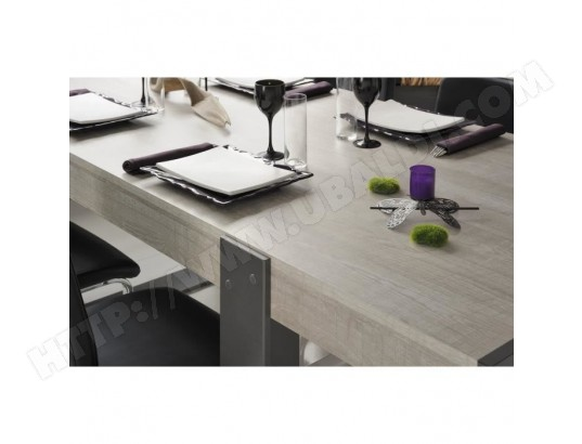 icaverne table a manger seule loft table a manger de 8 a 10 personnes style contemporain decor bois naturel l 224 x l 90 cm ma 15ca492tabl l55o7