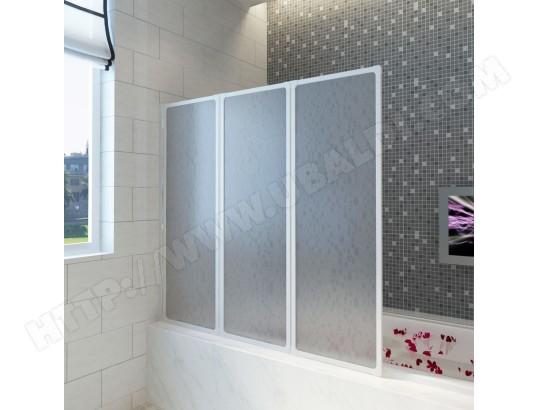 icaverne icaverne portes et parois de douche joli pare baignoire a 3 volets retractables 117 x 120 cm ma 15ca546icav 38on8