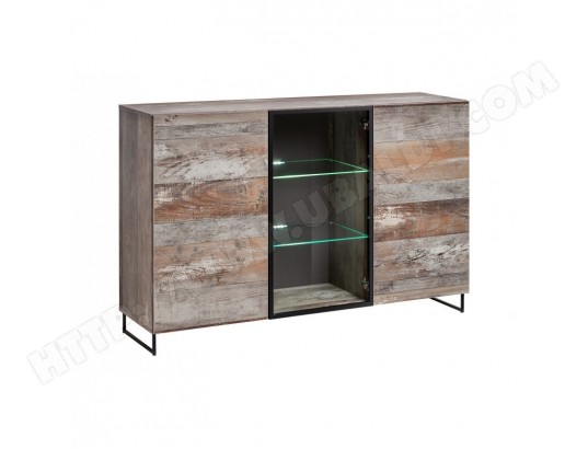 price factory buffet bahut modele kan led meuble type industriel enfilade design pour votre salon ou salle a manger ma 76ca182buff iwf1z