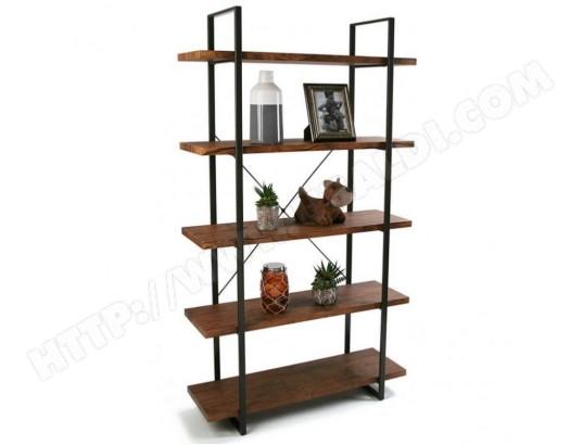 yesdeko meuble bibliotheque a 5 etageres ma 11ca494meub ek8tp