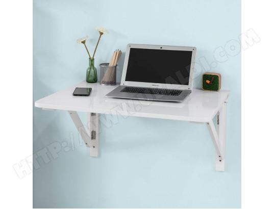 sobuy fwt05 w bureau table de cuisine table murale rabattable en bois 75 60cm blanc ma 10ca492fwt0 rs1t4