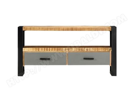 icaverne icaverne meubles tv selection meuble tv 100 x 30 x 50 cm bois massif de manguier ma 22ca487icav g0htn