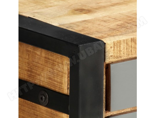 icaverne icaverne meubles tv categorie meuble tv 120 x 30 x 40 cm bois massif de manguier ma 22ca487icav dbjr9