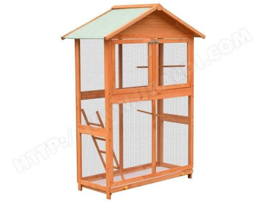 icaverne contemporain accessoires pour oiseaux edition monrovia cage a oiseaux pin massif et bois de sapin 120x60x168 cm ma 78ca486cont d7zjw