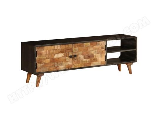 icaverne admirable meubles ligne nairobi meuble tv bois de manguier massif 140 x 30 x 45 cm ma 78ca487admi r51kj