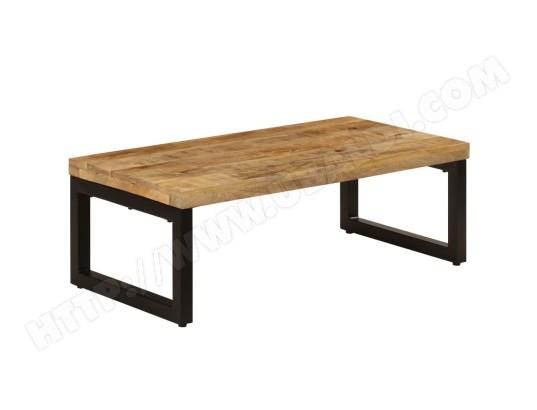 icaverne chic tables basses et tables d appoint ligne bridgetown table basse 110x50x35 cm bois de manguier solide et acier ma 78ca182chic exq5z
