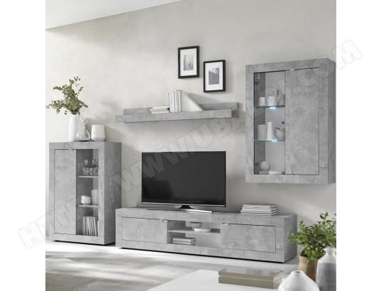 kasalinea ensemble meuble tv design effet beton gris ariel 4 ma 91ca494ense 3za7u
