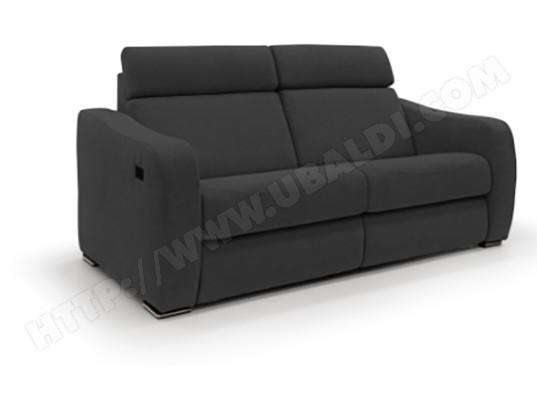 alterego divani canape tissu pamplona 3 places 2 relax elec tissu noir