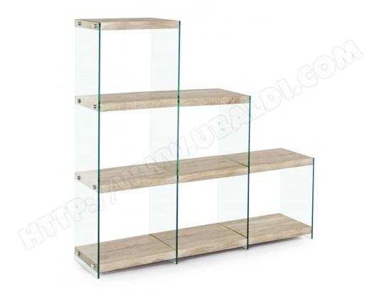 pegane bibliotheque avec echelle en verre et bois l 122 x p 29 50 x h 120 cm pegane ma 82ca804bibl 7t65m