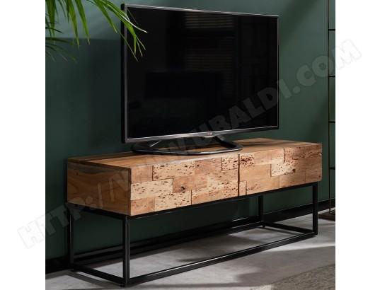 nouvomeuble meuble tv 120 cm contemporain en acacia hinano ma 82ca487meub i5isa