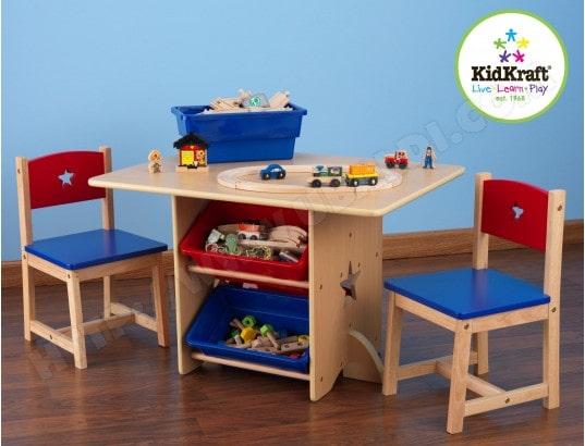 kidkraft ensemble table et chaise enfant table chaises motif etoile 26912