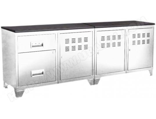 pierre henry meuble tv bois metal industriel 10521