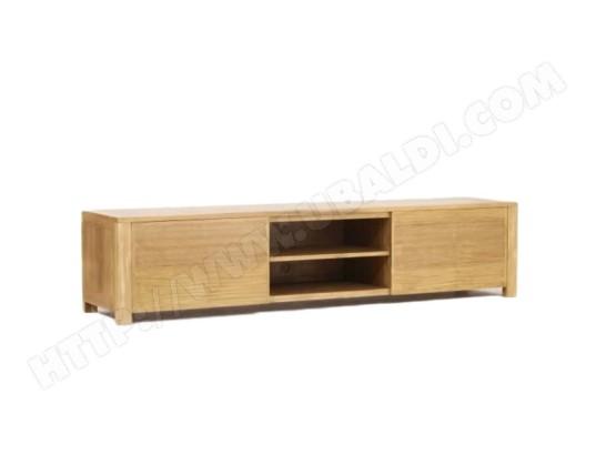 paris prix meuble tv en teck massif square 200cm naturel ma 12ca487meub nkmp9