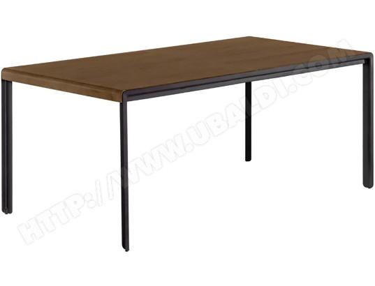 lf table de salle a manger table nadyria extensible noyer 160cm