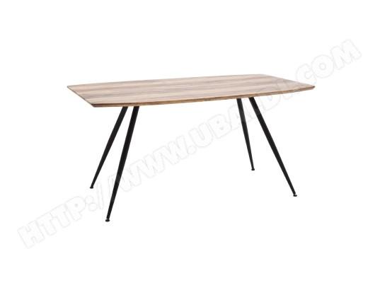 miliboo table a manger design finition chene sauvage et metal bocca ma 78ca492tabl 3qtg7