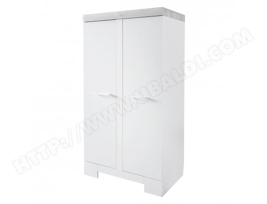 twf armoire 2 portes futura blanc gris ma 18ca456armo vn95y