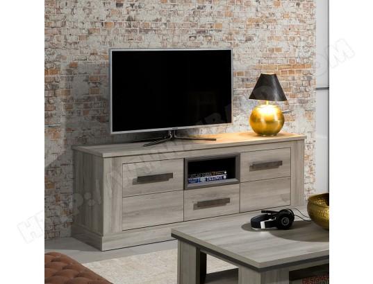 nouvomeuble meuble tele 155 cm coloris chene clair philippine ma 82ca487meub 06s5q
