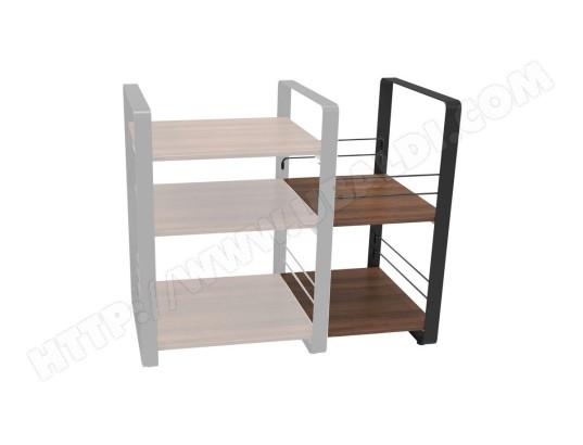 norstone norstone loft side noir et noyer module pour meubles hifi loft central ma 22ca43 nors e14e5