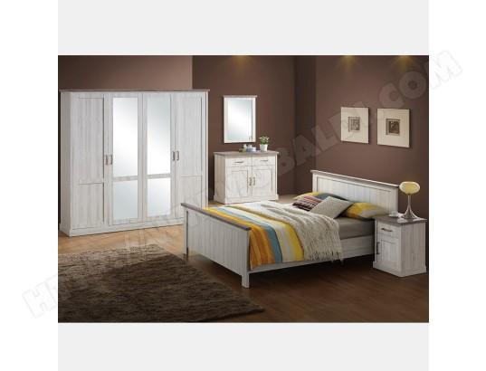 nouvomeuble chambre a coucher couleur chene clair et marron elaura ma 82ca195cham tns9z